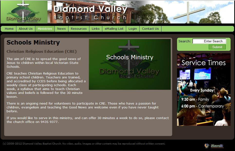 Diamond Valley Baptist Church � Evangelists wanted | Fairness In ...